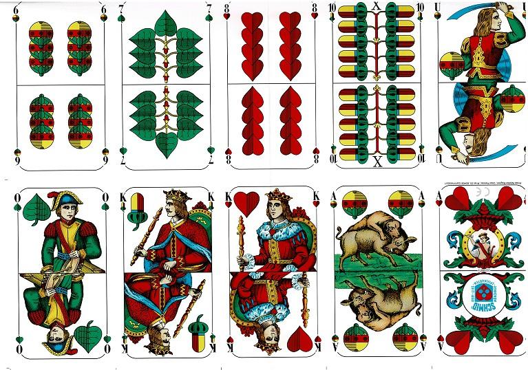 Spielkartenset Schafkopf