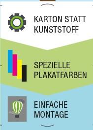 Pappplakate für den Wahlkampf
