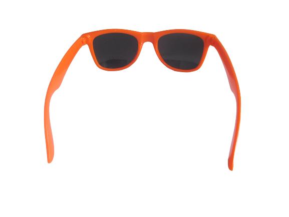 Sonnenbrillen zweifarbig orange/weiß mit Logo FREIE WÄHLER