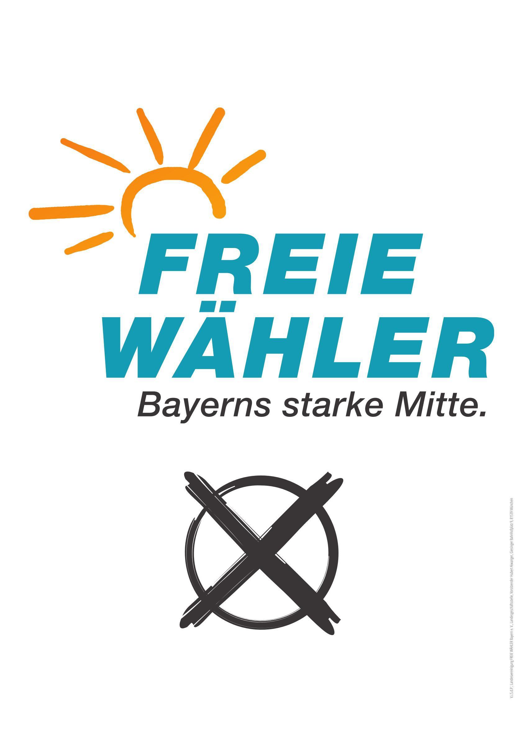 """Papierplakat  """"FREIE WÄHLER"""""""